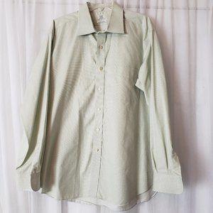 Ike Behar Men's Dress Shirt 17.5 / 35 Lime Green
